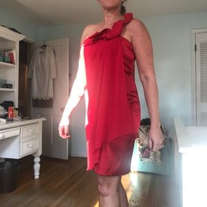 NWT Max & Cleo Red Cocktail Dress Sz 10